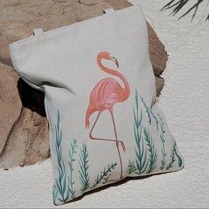 Flamingo beach tote